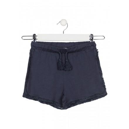 short con flecos Losan para niña modelo 114-6012AL