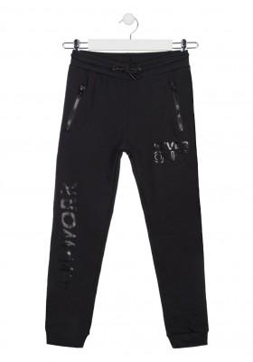 pantalon felpa no perchada con print Losan para niño modelo 113-6025AL