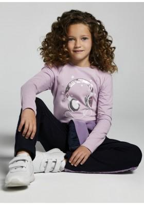 Camiseta manga larga manga rizo de Mayoral para niña modelo 7096