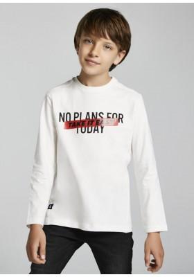 Camiseta manga larga mensaje brillo de Mayoral para niño modelo 7009