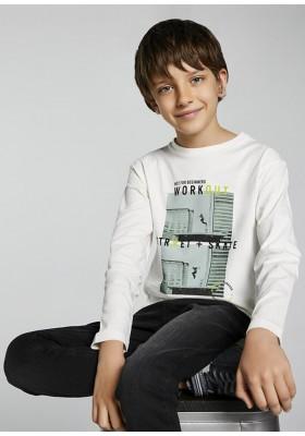 "Camiseta manga larga ""workout"" de Mayoral para niño modelo 7007"