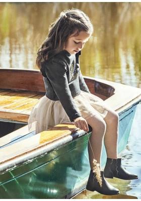 Vestido combinado tul de Mayoral para niña modelo 4940