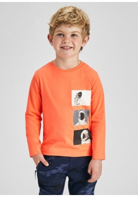Camiseta manga larga fotografias de Mayoral para niño modelo 4086