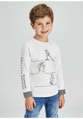Camiseta manga larga bordado de Mayoral para niño modelo 4072