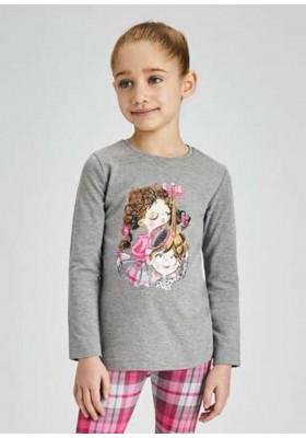 Camiseta manga larga serigrafia de Mayoral para niña modelo 4014