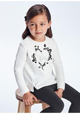Camiseta manga larga corazon flock de Mayoral para niña modelo 4012