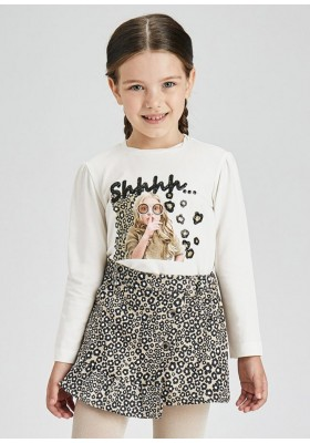 Camiseta manga larga serigrafia de Mayoral para niña modelo 4005