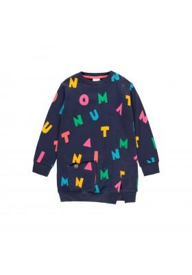 "Vestido felpa ""letras"" de niña Boboli modelo 403085"