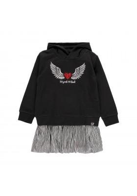 """Vestido felpa combinado """"alas"""" de niña Boboli modelo 433167"""