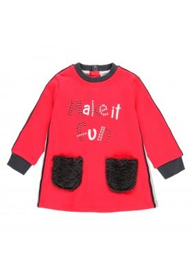 Vestido felpa con bolsillos pelo de bebé Boboli modelo 243098