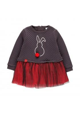 Vestido punto con tul de bebé niña Boboli modelo 243087