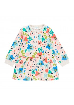 Vestido felpa flores de bebé niña Boboli modelo 213051