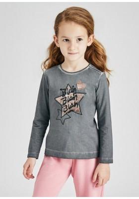 Camiseta manga larga acid wash de Mayoral para niña modelo 4011