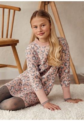 Vestido tricot leopardo de Mayoral para niña modelo 7925