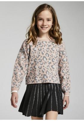 Jersey leopardo de Mayoral para niña modelo 7353