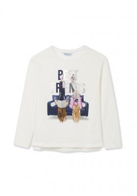 Camiseta manga larga grafica de Mayoral para niña modelo 7094
