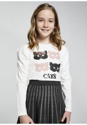 Camiseta manga larga manga abullonada de Mayoral para niña modelo 7091