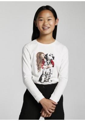 Camiseta manga larga dalmata de Mayoral para niña modelo 7089