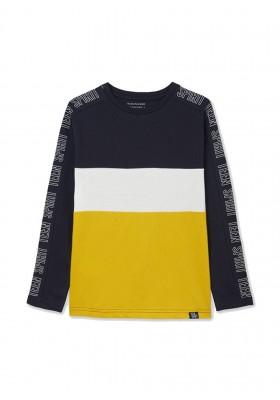 Camiseta manga larga color block de Mayoral para niño modelo 7013
