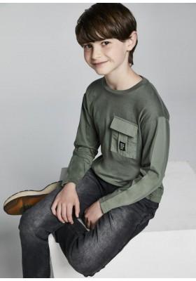 Camiseta manga larga bolsillo plana de Mayoral para niño modelo 7008