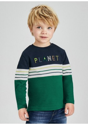 Camiseta manga larga combinada de Mayoral para niño modelo 4083