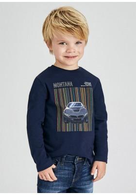 Camiseta manga larga serigrafia coche de Mayoral para niño modelo 4081