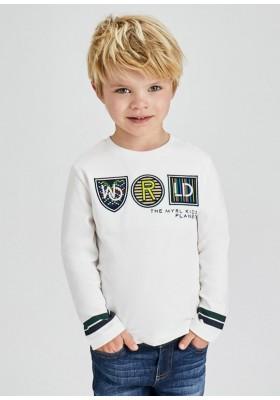 Camiseta manga larga apliques de Mayoral para niño modelo 4080
