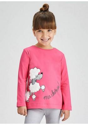 Camiseta manga larga serigrafia de Mayoral para niña modelo 4013