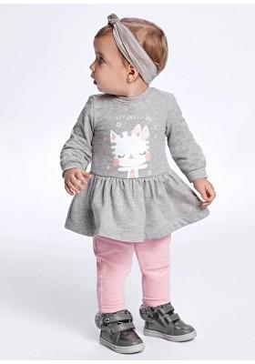 Vestido felpa de Mayoral para bebe niña modelo 2929