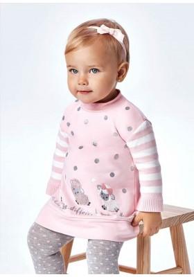 Vestido felpa combinado de Mayoral para bebe niña modelo 2927