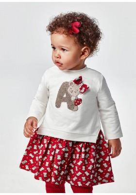 Vestido aplique de Mayoral para bebe niña modelo 2925