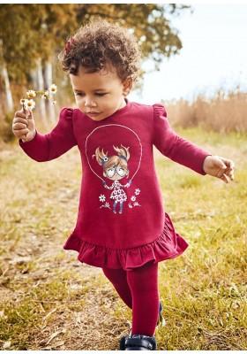Vestido felpa muñeca de Mayoral para bebe niña modelo 2913