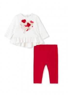 Conjunto leggings oso apliques de Mayoral para bebe niña modelo 2722