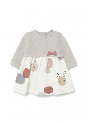 Vestido falda punto combinado de Mayoral para bebe niña modelo 2809