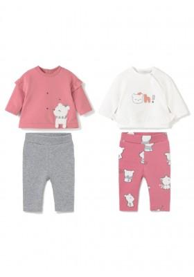 Conjunto leggings 4 piezas de Mayoral para bebe niña modelo 2704
