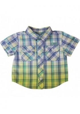Camisa BOBOLI manga corta azul claro - 338105