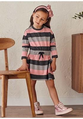 Vestido rayas de Mayoral para niña modelo 4939