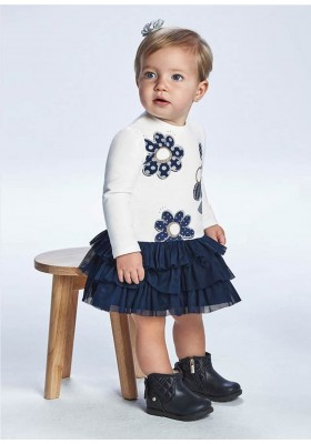 Vestido combinado tul de Mayoral para bebe niña modelo 2915