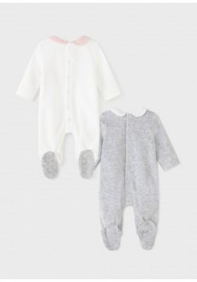 Set 2 peleles tundosado de Mayoral para bebe niña modelo 2666