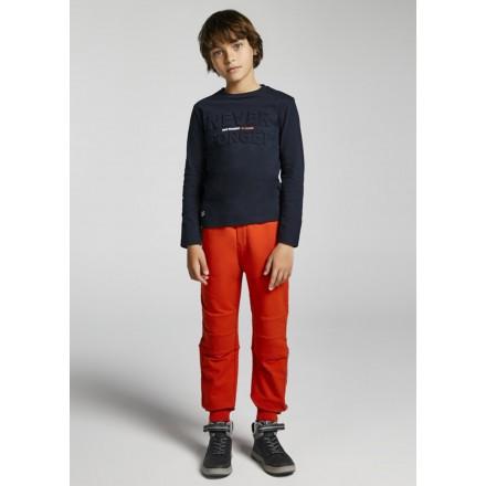 Pantalon felpa elastica bolsillo de Mayoral para niño modelo 7552