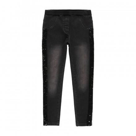 Pantalón denim punto de niña Boboli modelo 433010