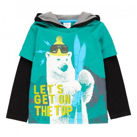 Camiseta punto con capucha de niño Boboli modelo 513201