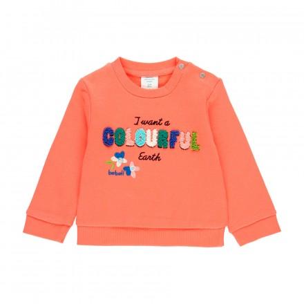 """Sudadera felpa """"letras"""" de bebé niña Boboli modelo 213006"""