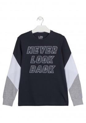 camiseta de manga larga con bordado Losan para niño modelo 123-1025AL