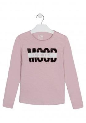 camiseta manga larga con printing Losan para niña modelo 124-1006AL