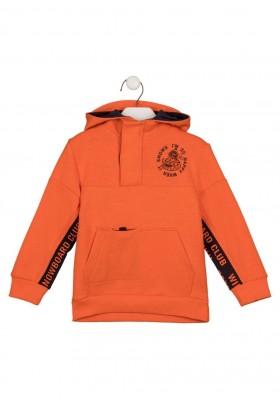 sudadera de interlock con capucha Losan para niño modelo 125-6010AL