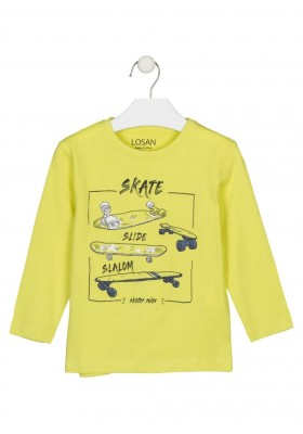 camiseta manga larga con print Losan para niño modelo 125-1634AL