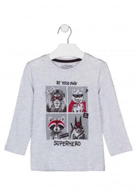camiseta de manga larga con print Losan para niño modelo 125-1013AL