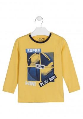 camiseta de manga larga con print Losan para niño modelo 125-1003AL