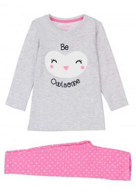 pijama de punto liso Losan para niña modelo 126-P002AL